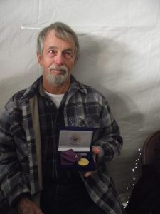 Daddy with his medal.